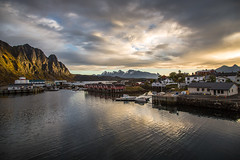 Svolvr, Lofoten (cpphotofinish) Tags: ocean blue autumn light sunset sky panorama mountain color colour reflection fall water weather norway clouds canon landscape outside island eos daylight norge photo reflex day skies foto bright image harbour outdoor panoramic norwegian nordic dslr scandinavia canondslr lofoten havn bilder vann bluelight skyer kaia hst hurtigruten landskap bilde svolvr norske farger mk3 nordland skandinavia svinya canonef ef24105mmf4lisusm carstenpedersen canonmkiii mklll canon5dmk3 eos5dmk3 verdensvakrestesjreise cpphotofinish canonredlable
