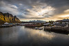 Svolvær, Lofoten (cpphotofinish) Tags: ocean blue autumn light sunset sky panorama mountain color colour reflection fall water weather norway clouds canon landscape outside island eos daylight norge photo reflex day skies foto bright image harbour outdoor panoramic norwegian nordic dslr scandinavia canondslr lofoten havn bilder vann bluelight skyer kaia høst hurtigruten landskap bilde svolvær norske farger mk3 nordland skandinavia svinøya canonef ef24105mmf4lisusm carstenpedersen canonmkiii mklll canon5dmk3 eos5dmk3 verdensvakrestesjøreise cpphotofinish canonredlable