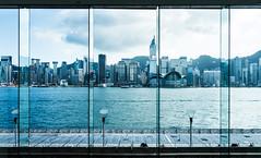 Behind the glass (ygchan) Tags: windows water skyline hongkong kowloon victoriaharbor intercontinentalhotel