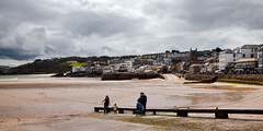 St Ives, Cornwall low tide 2012 (hz536n/George Thomas) Tags: stives 2012 canon5d cs5 copyright england cornwall sky water sea spring clouds