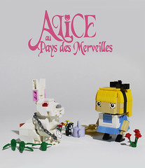 Alice au pays des merveilles (totopremier) Tags: rabbit cat lego alice wonderland lapin blockhead
