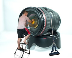 Cleaning Lens 4 (Glesgaloon) Tags: photoshop canon photography trickphotography selfie cameracleaning lifestoshort