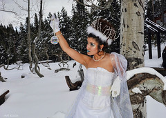 Snow Bubble (All About Light!) Tags: white fashion glamour dress models sierras snowprincess arthurkochphotography