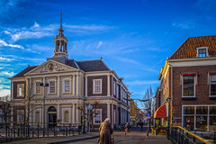 Korenbeurs/Dam - Schiedam (koolbram) Tags: old bridge blue sky holland building history netherlands dutch architecture clouds nikon europa europe long exposure outdoor nederland historic architect historical brug oud hdr schiedam zuidholland geschiedenis benelux d90 nd110