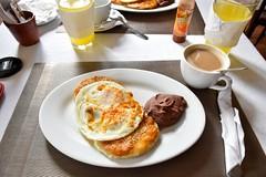 _DSC0984 (lnewman333) Tags: food latinamerica coffee breakfast restaurant beans juice honduras refriedbeans eggs hotsauce blackbeans centralamerica copanruinas lallamadelbosque desayunostypico