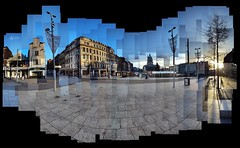 Old Market Square on a Christmas Morning (ldjldj) Tags: old nottingham david square market photomontage hockney joiner nottinghamshire panograph