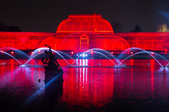 Kew Gardens Christmas lights (ncs1984) Tags: christmas uk winter light england kewgardens lake color colour reflection london water colors kew gardens architecture night canon reflections garden lights pond europe colours dusk christmaslights greenhouse christmasdecorations amateur glasshouse canon6d