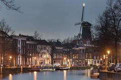 Schiedam, Lange Haven (Jan Sluijter) Tags: christmas blue holland netherlands nederland hour bluehour kerstmis schiedam visitholland langehaven