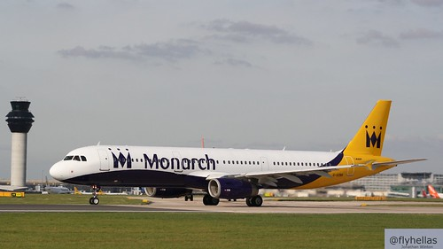 Monarch A321-211 G-OZBR Manchester Airport