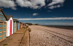 Beach Huts at Budliegh Salterton (c.richard) Tags: budlieghsalterton devon coastal beach beachhuts bluesky pebbles