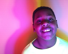 Color Me Happy (johnny.barker) Tags: rgb light color red green blue boy black smile teeth happy colorful theory