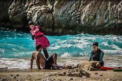 For Facebook (Melissa Maples) Tags: ka turkey trkiye asia  nikon d5100   nikkor afs 18200mm f3556g 18200mmf3556g vr kaputa beach mediterranean sea water buried burial funny turks men women photographer ka trkiye    kaputa