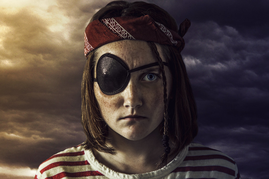 Pirate Allison Coles Tags Selfportrait Girl Clouds Bandana Eyepatch Allisoncolesphotography