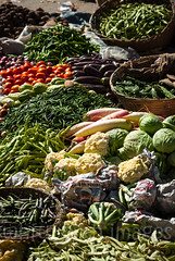 Thimphu Vegetable Market (whitworth images) Tags: bhutan market healthy asia tomato cabbage himalaya vegetables himalayas travel trade eggplant ground aubergine thimphu cauliflower sell radish produce ingredient grocery goods outside vend outdoors green fresh baskets weekend beans thimphudzongkhag