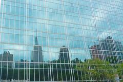 city in the mirror (hosam alshanawany) Tags: nikon nikkor nyc newyork ny newyorkcity new manhattan newpointofview mirror reflection