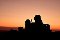 Myself on Staple Tor sunset (Myles Pinkney Photography) Tags: sunset skies dartmoor landscape s tokina1116 nikond5300 rocks sillouette figure national park martian shadows striking photography