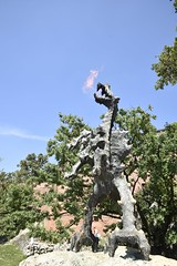 Dragon Statue at Wawel: Fire breathing (SpirosK photography) Tags: krakow poland   dragon statue sculpture