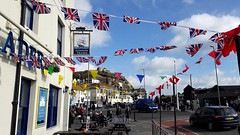 Flags of the London Trader (crashcalloway) Tags: hastings eastsussex sussex londontrader pub flags unionjack southcoast