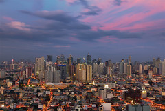 Painted Skies (gpqua) Tags: makati skyline philippines sunset pink skies golden hour 550d 24105mm nisi filters long exposure blending cityscape landscape urban pasay