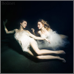 Life-3 (pretorrien) Tags: beth kayt a6000 sony underwater white dress einstein strobe model dark water