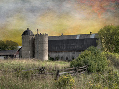 Rural Spires (John Ronson Photography) Tags: ruralspires barn silos farm ontario ontariofarm textures shadowhousecreations jaijohnson