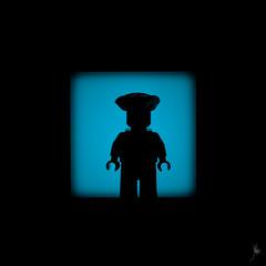 Shadow (256/100) - Tricorn (Ballou34) Tags: 2015 afol ballou34 canon flickr lego legography minifigures photography stuckinplastic toy toyphotgraphy toys stuck plastic photgraphy 2016 650d eos eos650d legographer rebelt4i t4i rebel blackwhite light shadow enevucube minifigure 100shadows ship sea boat tricorn hat