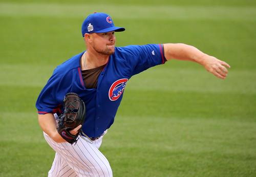 Cubs lefty Jon Lester throws a bullpen s by apardavila, on Flickr