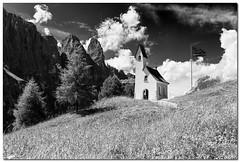 """Passo Gardena (""""Deca"""") Tags: dolomiti dolomites montagna mountain biancoenero blackandwhite monocromatico monochrome effettoir ireffect passogardena"""
