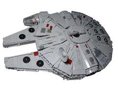 Star Wars: Episode IV - A New Hope: Millennium Falcon (Forgotten Days) Tags: lego star wars han solo chewbacca r2d2 c3po obiwan kenobi millennium falcon spaceship ship a new hope original trilogy force awakens
