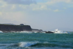 Green Sea (skippyjon2010) Tags: ocean sea portrush antrim surf surfing storm house cliff ireland uk