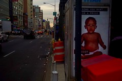 Looking West on Canal Street At Dusk (spinadelic) Tags: stevespencer november 2016 fall autumn newyork ny nyc thecity urban gotham canalstreet canal looking west road street view sundown dusk advertisement baby diaper downtown traffic nolita