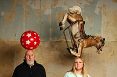 The Girl who could Balance a Horse on her Head (Studio d'Xavier) Tags: werehere uniqueyou stuffonmyhead balance stuffonyourhead horse ball 365 november242016 329366