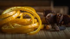 Zest of Orange. (Sylvie.) Tags: zest zeste organge clove cinnamon kaneel dof depthoffield star steranijs sylvie peeters sony ilce 6000 a6000 macro fe90mmf28macrogoss f28 90mm fruit brown
