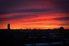 Colourful sunset (ideal_farm) Tags: russia ekaterinburg sony ural sunset color colourfull amazing sky clouds roofes city view