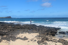 IMG_1208 (michelleingrassia) Tags: makapuubeach beach ocean oahu hi hawaii lavarock fisherman