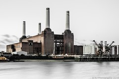 Battersea-1 (RJ Photographic) Tags: battersea power station london water thames river outdoors industrial architecture famous lee filters