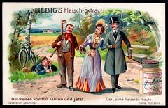 Liebig Tradecard S801 - The Poor Travelling in 1904 (cigcardpix) Tags: tradecards advertising ephemera vintage liebig chromo