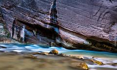 The Narrows (cuddleupcrafts) Tags: the narrows zions national park water stream rock november slow