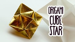 origami cube star (paperkawaii) Tags: origami instructions paperkawaii papercraft diy how video youtube tutorial