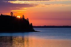 Old Lady Sunrise (matthewkaz) Tags: sunrise sun sky clouds nagagami nagagamilake lake water reflection reflections silhouette fishing fishcamp expeditionsnorth ontario canada 2016