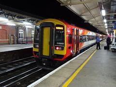 SWT 158885 @ Basingstoke (Sim0nTrains Photos) Tags: southwesttrains southwesternmainline dmu dieselmultipleunit expresssprinter brel brelderby 158885 class158 swtclass158 basingstokerailwaystation britishrailclass158