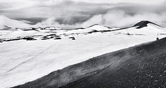 On top of volcano Magni (Andr stergrd) Tags: sky blackandwhite bw mountain snow mountains trekking landscape island volcano iceland laugavegur hiking backpacking vulkan magni