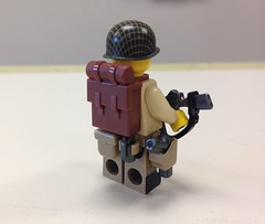 Lego US Paratrooper Sergeant (ranger3181) Tags: world 2 two brick infantry america army us war lego painted united collection equipment figure ww2 second soldiers guns marines uniforms states custom thompson weapons paratrooper minfig brickarms minifigcat citizenbrick