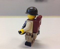 Lego US Paratrooper Sergeant (ranger3181) Tags: world 2 two brick infantry america army us war lego painted united collection equipment figure ww2 second soldiers guns marines uniforms states custom weapons paratrooper minfig brickarms minifigcat citizenbrick