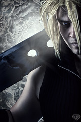 Cloud Strife (Supahrob) Tags: light portrait cloud anime male art composite photoshop portraits canon rebel prime costume model artist riverside artistic cosplay flash 85mm portraiture cosplayer finalfantasy retouch edit strobe riversideca strife inlandempire cloudstrife strobist strobology lightshaping yungnuo lightshaper rebelt3i