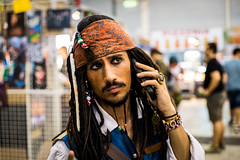Jack Sparrow on the phone (massimopisani1972) Tags: anime rome roma comics jack nikon cosplay pirates manga sparrow caribbean cosplayer tamron dei caraibi 2015 pirati d610 2470 fieradiroma romics massimopisani massimopisani1972