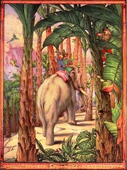 """The next day he sat me behind him on an elephant."" Art by E. J. Detmold from ""The Arabian Nights."" NY: Dodd, Mead & Co., (1925). (lhboudreau) Tags: elephant illustration watercolor palms book artwork tales drawing illustrations drawings books palm palmtrees illustrator arabian watercolors fables 1925 bookart hardcover detmold colorart vintagebook sinbad arabiannights sindbad illustratedbooks illustratedbook vintagebooks sinbadthesailor vintagebookillustration thousandandonenights hardcovers thearabiannights hardcoverbooks bookartist edwardjuliusdetmold hardcoverbook doddmeadco doddmead bookillustrator ejdetmold edwardjdetmold vintagebookillustrations colorplates classictales classicstories classicillustrators classicillustrator vintageillustratedbook edwarddetmold tippedin doddmeadandcompany vintageillustratedbooks classicfables"