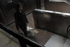 home (spanaut) Tags: street cambridge night underground subway us unitedstates massachusetts harvard entrance streetphotography escalators
