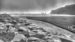 Iceland trip, Black Sand Beach (Andrew Kettell) Tags: iceland shore hdr beach blacksand seaside