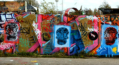 graffiti amsterdam (wojofoto) Tags: amsterdam skull graffiti stencil stencilart ndsm wolfgangjosten wojofoto